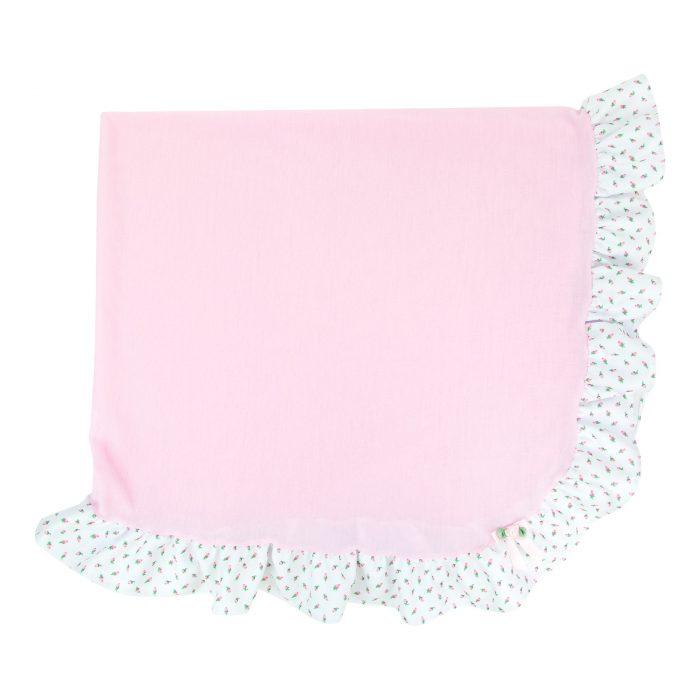 Rosebud Frilly Blanket