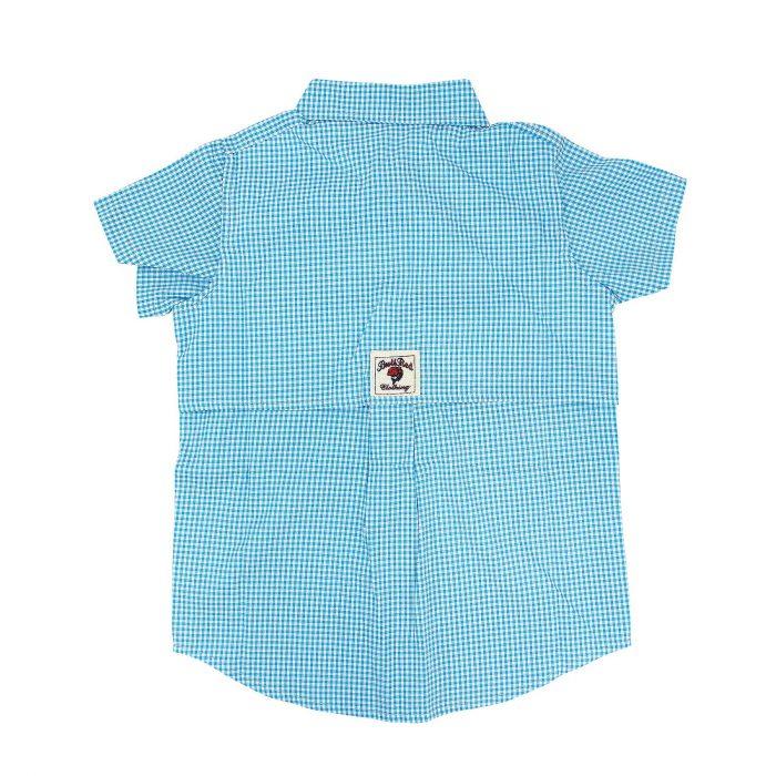 BullRed Aqua Gingham Shirt Back