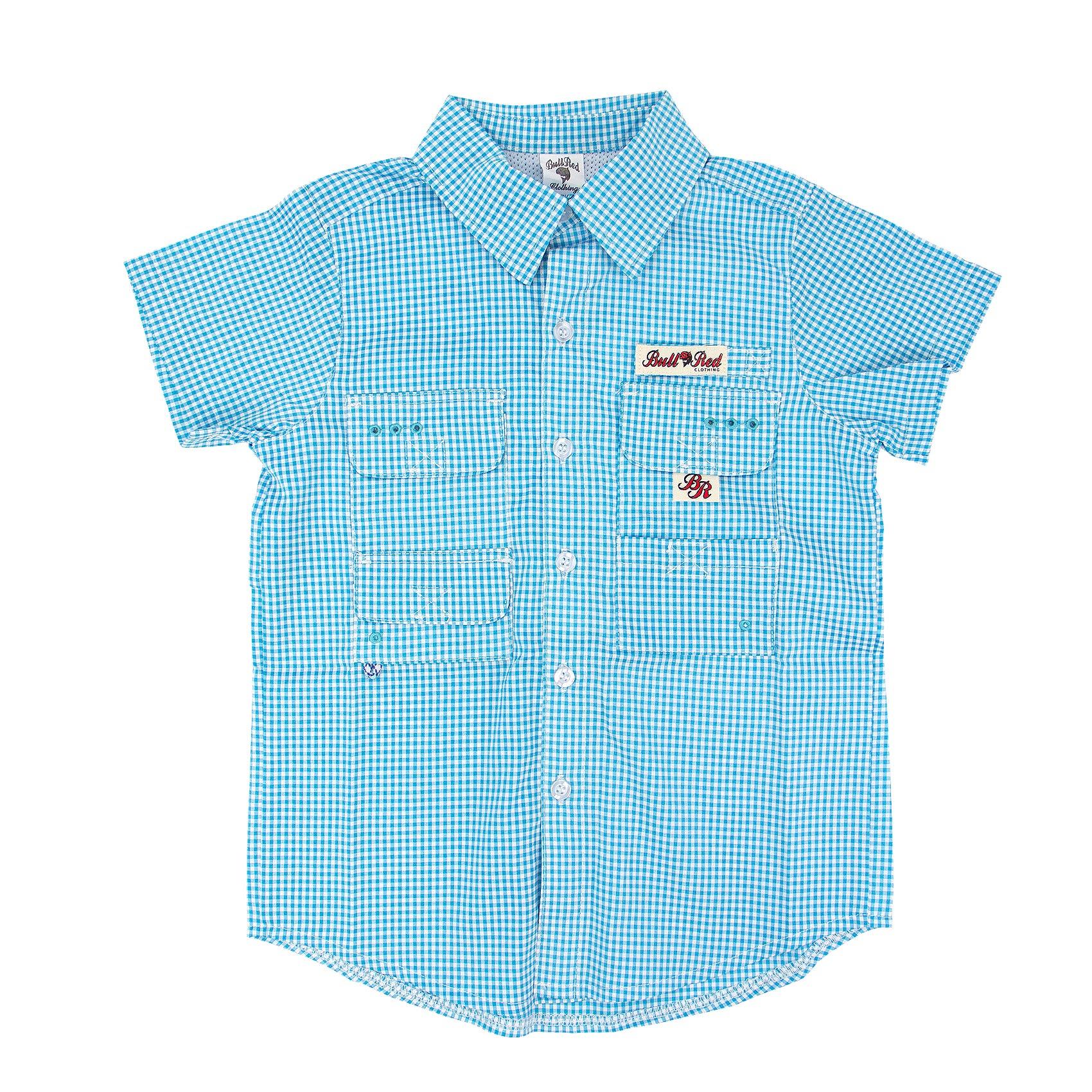 BullRed Aqua Gingham Shirt