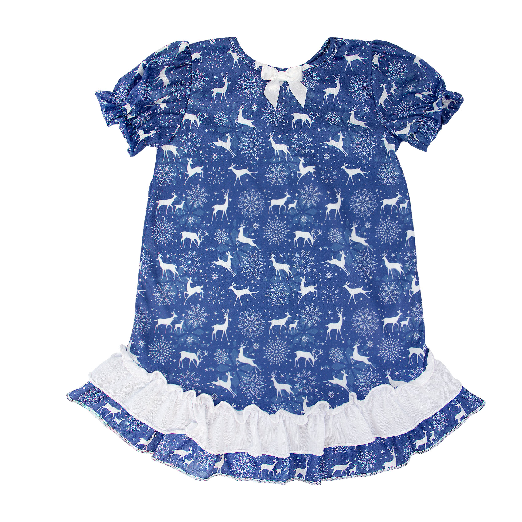Reindeer Puff Sleeve Gown