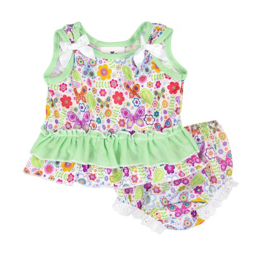 Butterfly Bow Top Diaper Set