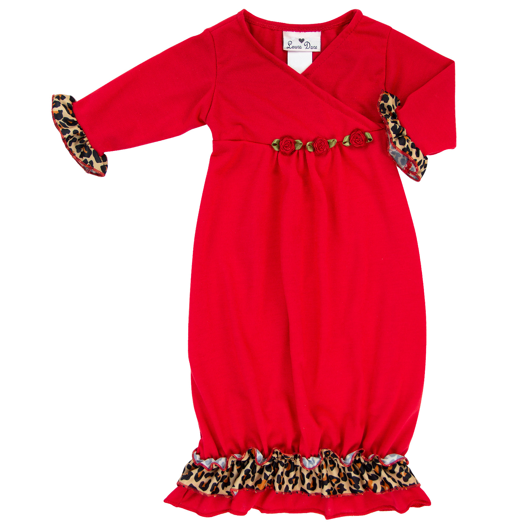 Leopard Crossneck Sacque Front